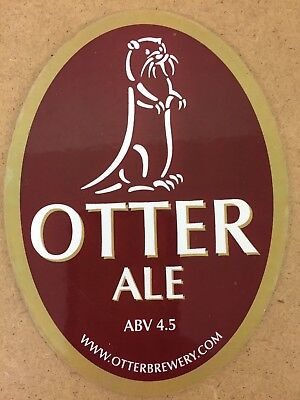 End of Stock Flat Otter Brewery Otter Ale gold Bar Pump Clip