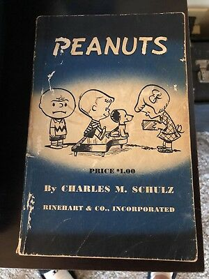 Vintage Peanuts Book 1952 First Edition By Charles Schulz Holt Rinehart&co Good