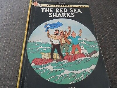Vintage Herge's Adventures of Tintin, The Red Sea Sharks, paperback comic, 1979