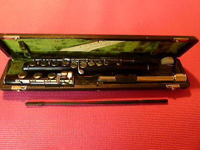 Historical, antique and ancient Grenadilla German C.A.Wunderlich flute B 1911