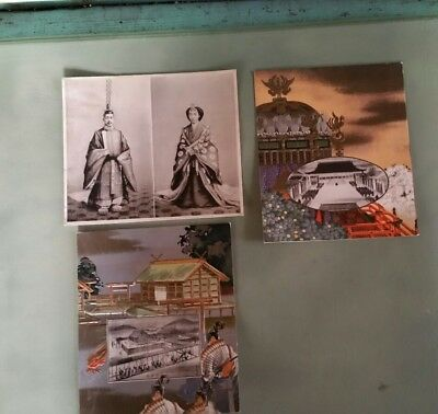 3 old Vtg Japanese Asian Japan photo print Cards pictures