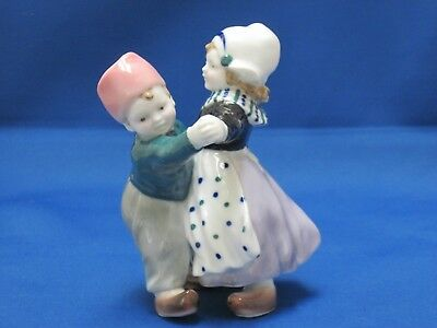 Vintage Karl Ens Porcelain Figurine Dutch Boy Girl Dancing Germany
