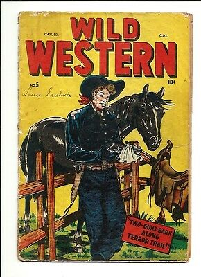 1950 Bell Features Marvel Wild Western # 5 Canadian Version PR 0.5 Condition