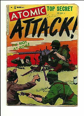 1953 Youthful Magazines Comics Atomic Attack # 6 PR 0.5 Condition War