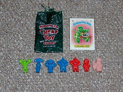 Lot of 7 1980s Garbage Pail Kids Cheap Toy Series 1 Figures with Bag