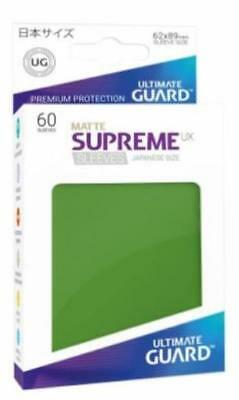 Ultimate Guard Japanese Sleeves Supreme UX - Matte Green (60) MINT