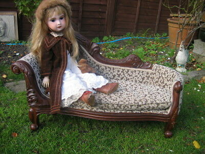 Vintage Chaise Longues Child Size Doll Display
