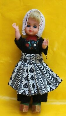 Lot of four Dolls in European Ethnic Costumes Collectible Dutch Swiss