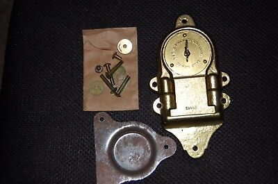 Vintage Nos 1942 Eagle Lock Co Large Brass / Iron Locker Chest Trunk Lock 0B135