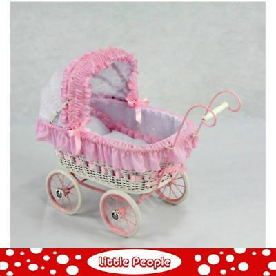 White and Pink Pram  great gift idea small