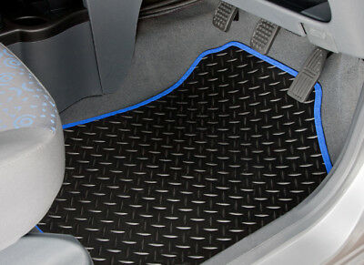 Peugeot Partner Tepee (2008-On) Tailored Rubber Car Mats With Blue Trim [2142]