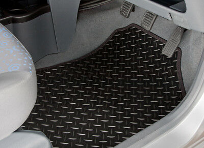 Peugeot Partner Tepee (2008-On) Tailored Rubber Car Mats With Black Trim [2142]