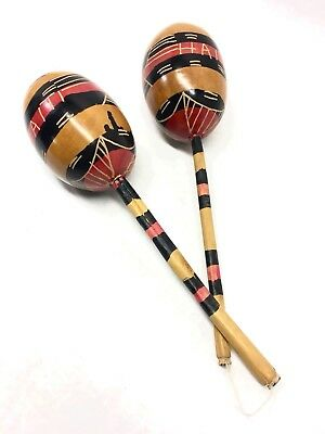 1950's Maracas Hand Made from Haiti