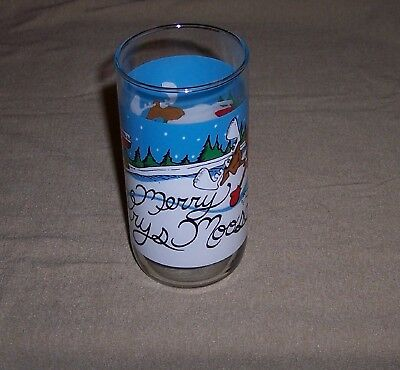 Krystal Coca Cola Christmas Merry Krys Moose Glass