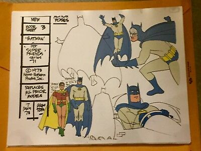 Super Friends The Animated Series production animation model cel Batman Robin