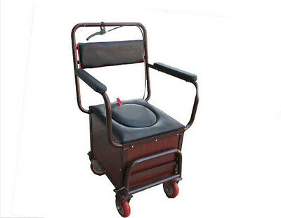 Brown 4 Wheels Convenient Foldable Shopping Luggage Trolleys With Seat #!