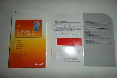 Microsoft Office 2010 Home and Business Medialess  Product Key Card USED NO DISC