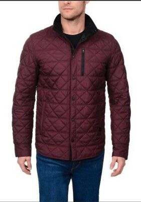 New With Tags Victorinox Swiss Army Bernhold Quilted Jacket Coat Medium Purple