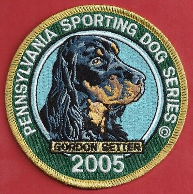 Pa Pennsylvania Fish Game Commission  NEW Sporting Dog 2005 Gordon Setter Patch