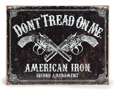 Dont Tread On Me American 2nd Amendment Tin Sign