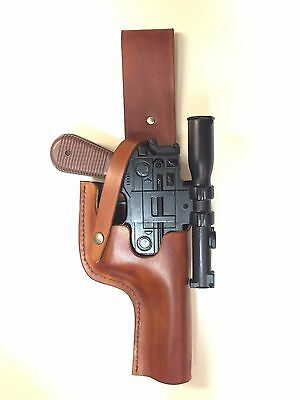 Star Wars Brown Leather HOLSTER for a Kenner / Hasbro ANH DL-44 Han Solo Blaster