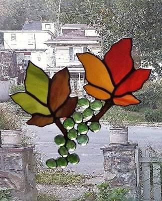 **AUTUMN LEAVES** Stained Glass Window Hanging