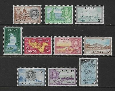 TONGA 1953 Pictorials, definitives, mint MH