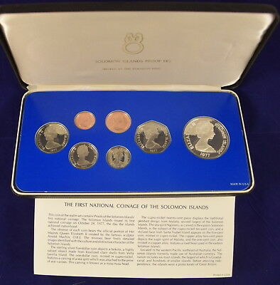 The first national coinage of the Solomon Islands proof set 1977