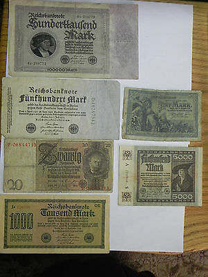 Germany Mixed Lot of Older Notes lot#100