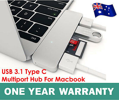 Macbook PRO USB 3.1 Type-C to USB 3.0 HUB USB-C 3IN1 Charging Port Adapter Cable