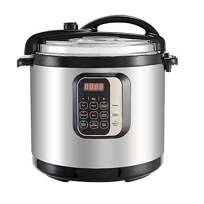 1400W 10QT Electric Digital Pressure Cooker Multifunction Stainless Steel