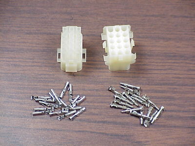 15 Pin Male And Female Mate-n-lok AMP Connectors With Pins