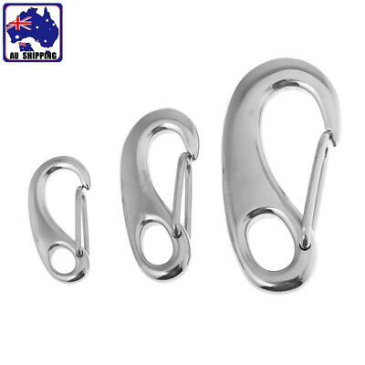 Stainless Steel Egg Shape Quick Link Carabiner Spring Snap Hook 3 Size TEBO984