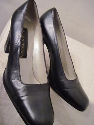 Ellen Tracy N. Blue Leather Heel Italian Pump 8 Hardly Worn