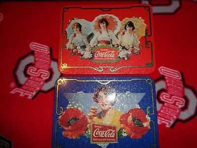 2 Coca Cola Vintage Girl Advertising Retro Metal/ Tin Sign/Picture Coke New