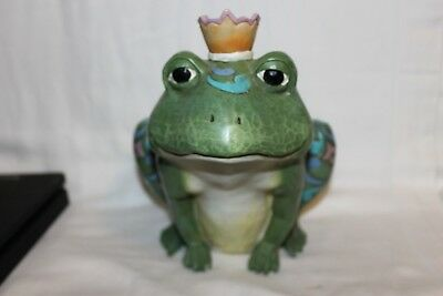Hard To Find Jim Shore Outdoor Living Large Frog Hamlet 2013 Very Cute !