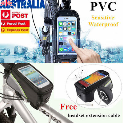 "Roswheel 5.7"" Cycling Frame Bag Bicycle Bike MTB Front Top Tube Cell Phone Pouch"