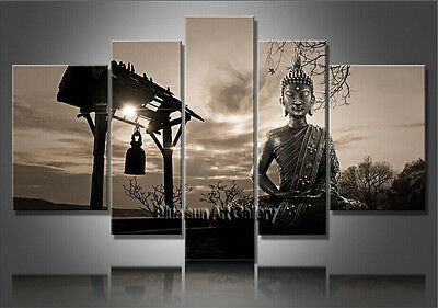 MODERN ABSTRACT OIL PAINTING Feng Shui Buddha Painting Canvas Wall Art Framed F3