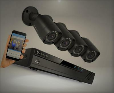 Amcrest Full-HD 1080P 8CH Video Security System w/ Four 2.0 MP (1920TVL) Outdoor