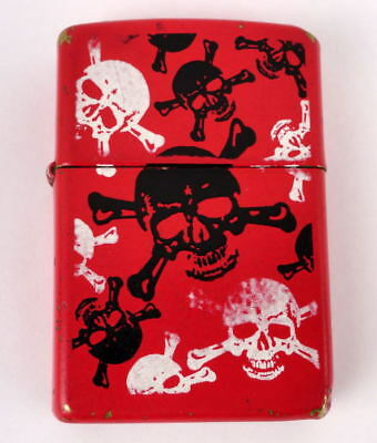 Vintage Red Skull And Crossbones ZIPPO Lighter 2009