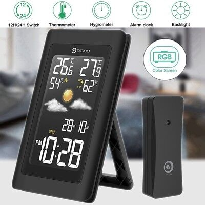 Digoo Wireless HD Negative Color Screen USB In&Out Weather Station Alarm Clock