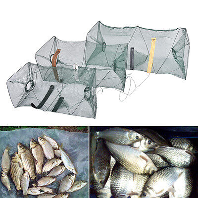 Fishing Bait Trap Cast Dip Net Cage Crab Fish Minnow Crawdad Shrimp Foldable  R