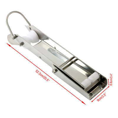 """Amarine-made 21"""" Polished Stainless Anchor Roller/Self Launching Pivoting Delta"""