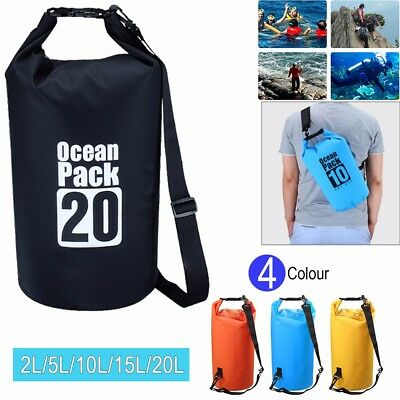 Waterproof Dry Bag Sack Kayak Sailing Fishing Camping Float Canoe 2/5/10/15/20L