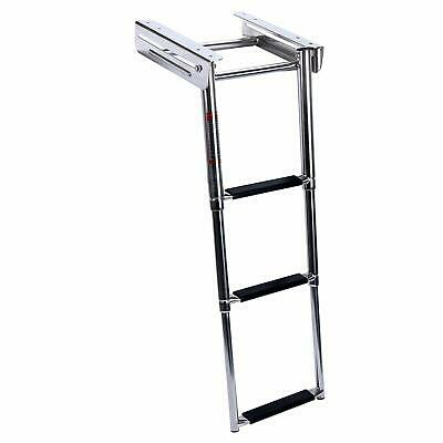 NEW 3-Step Under Platform Or Boat Boarding Stainless Steel Telescoping Ladder