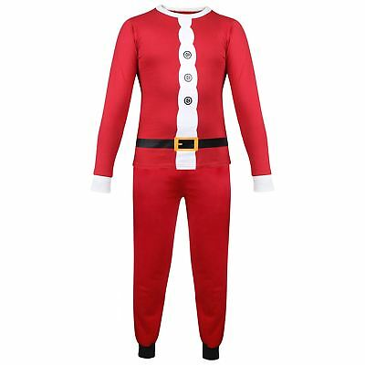 Kids Girls Boys PJ'S Santa Claus Christmas Pyjamas Xmas Nightwear Age 2-13 Years