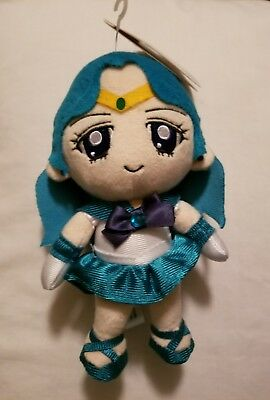 "BanDai Sailor Moon Series 2 Neptune Plush Doll, 7"" New with tags"