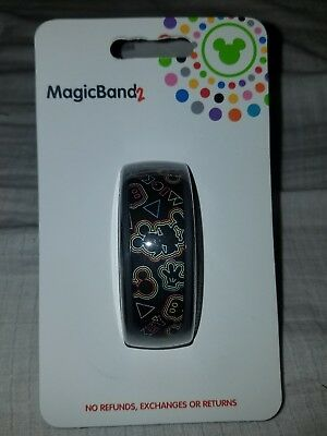 NEW Disney Parks Mickey Mouse Comeback Kid Neon Art MagicBand Magic Band 2