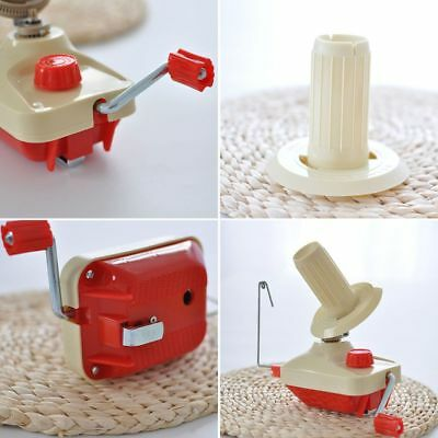 Hand Operated Knitting Roll String Yarn Fiber Wool Thread Ball Winder Holder AU