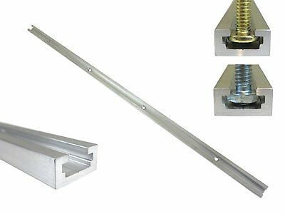 "36"" Aluminum T Track 3/4"" by 3/8"" Slot, Accepts 1/4"" Hex Bolts, 1/4"" or 5/16"" T"